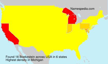 Familiennamen Boekestein - USA
