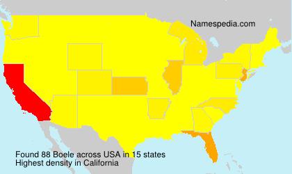 Surname Boele in USA
