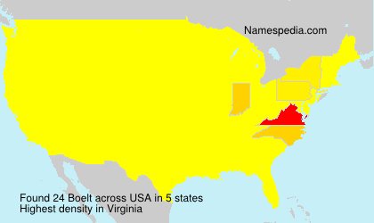 Surname Boelt in USA