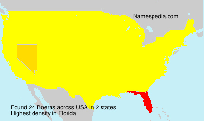 Surname Boeras in USA