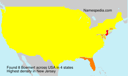 Surname Boernert in USA