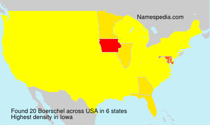 Surname Boerschel in USA