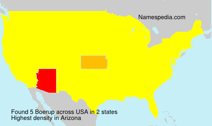 Surname Boerup in USA