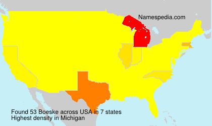 Surname Boeske in USA