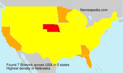 Familiennamen Boevink - USA