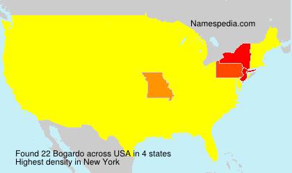 Surname Bogardo in USA