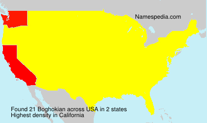 Familiennamen Boghokian - USA