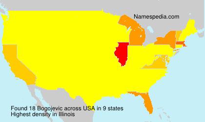 Surname Bogojevic in USA