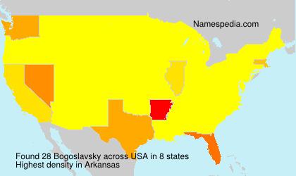 Surname Bogoslavsky in USA