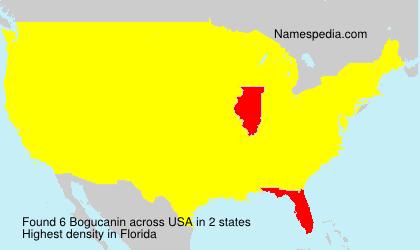 Surname Bogucanin in USA