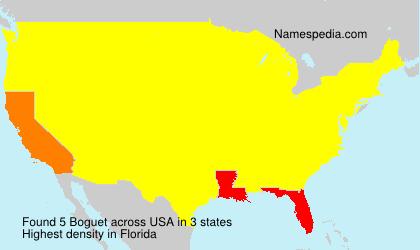 Familiennamen Boguet - USA