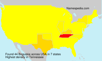 Surname Boguskie in USA