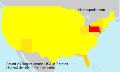 Familiennamen Bogutz - USA