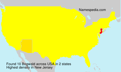 Surname Bogwald in USA