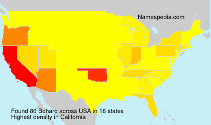 Surname Bohard in USA