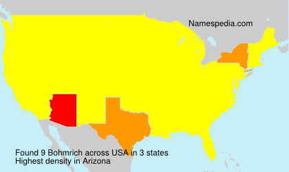 Surname Bohmrich in USA