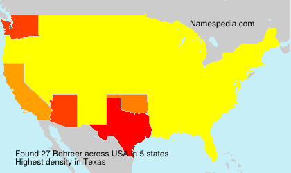 Surname Bohreer in USA
