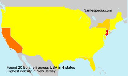 Surname Boianelli in USA