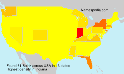 Familiennamen Boink - USA