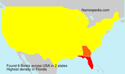 Surname Boisis in USA
