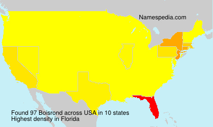 Surname Boisrond in USA
