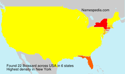 Surname Boissard in USA