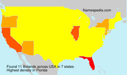 Surname Bolands in USA