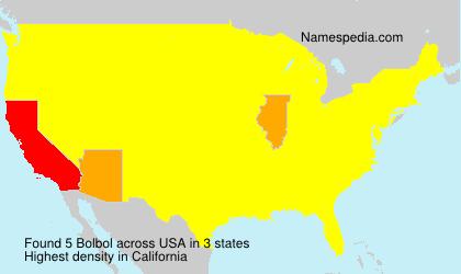 Familiennamen Bolbol - USA