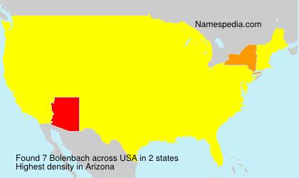 Surname Bolenbach in USA