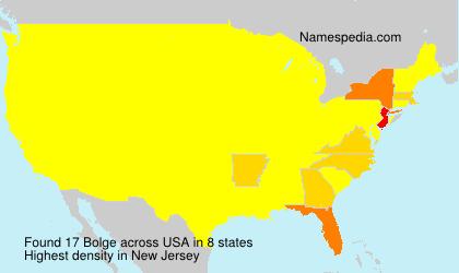 Familiennamen Bolge - USA