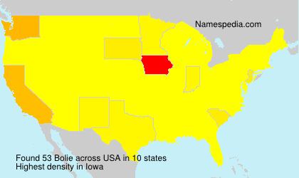 Surname Bolie in USA