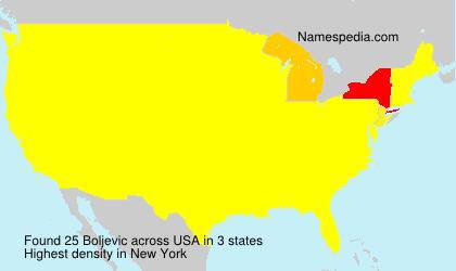 Surname Boljevic in USA