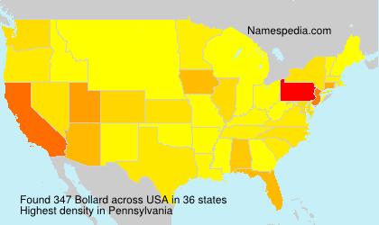 Familiennamen Bollard - USA