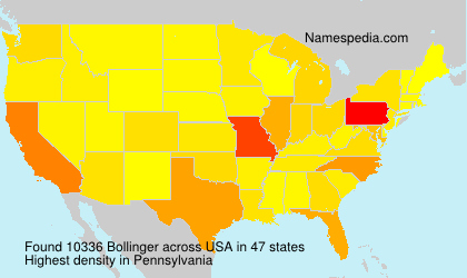 Familiennamen Bollinger - USA