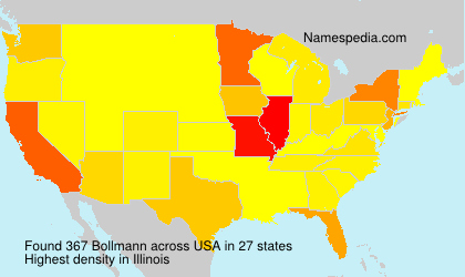 Surname Bollmann in USA