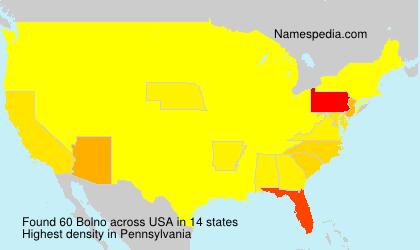 Surname Bolno in USA