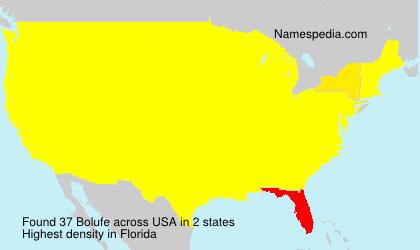 Familiennamen Bolufe - USA