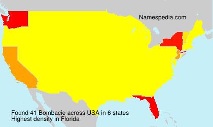 Surname Bombacie in USA