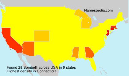 Surname Bombelli in USA