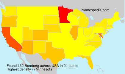 Surname Bomberg in USA