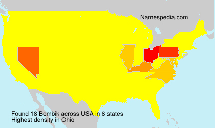 Surname Bombik in USA