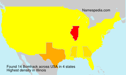Surname Bomhack in USA