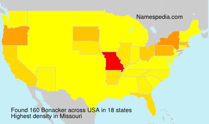 Surname Bonacker in USA