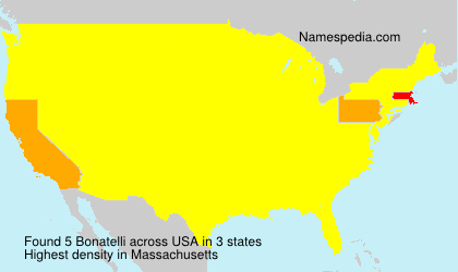 Surname Bonatelli in USA