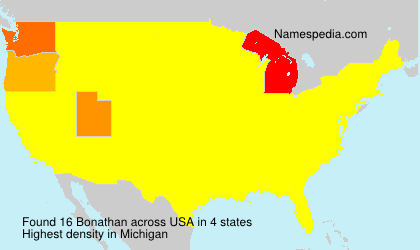 Surname Bonathan in USA
