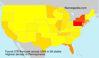 Familiennamen Bonczek - USA