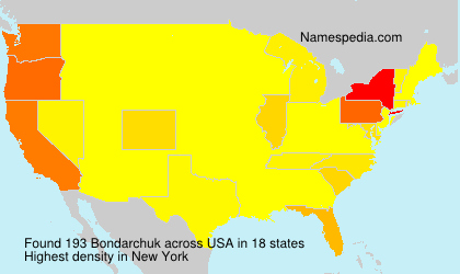 Surname Bondarchuk in USA