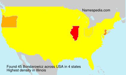 Surname Bondarowicz in USA