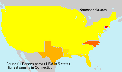 Surname Bondos in USA