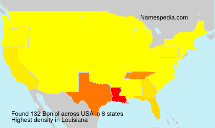 Surname Boniol in USA